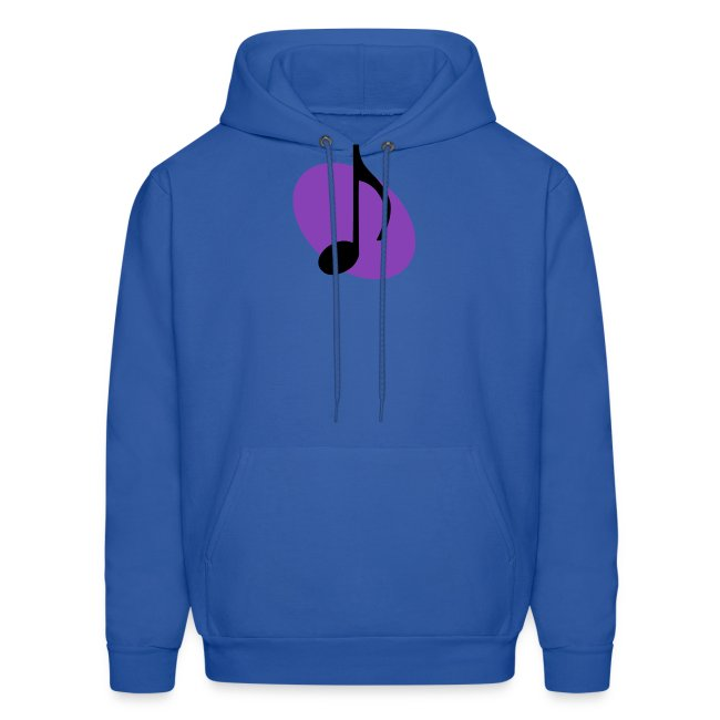 Purple Music Emblem (Black) Hoodie