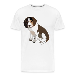 Beagle Puppy ADD CUSTOM TEXT - Men's Premium T-Shirt
