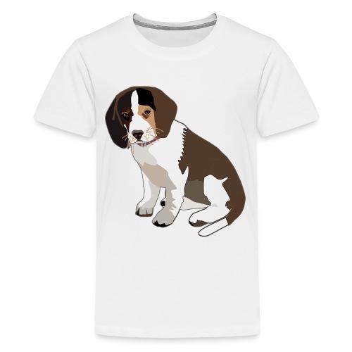 Beagle Puppy ADD CUSTOM TEXT - Kids' Premium T-Shirt