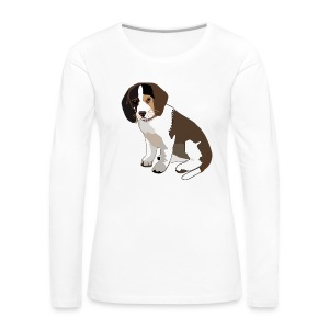 Beagle Puppy ADD CUSTOM TEXT - Women's Premium Long Sleeve T-Shirt
