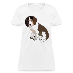 Beagle Puppy ADD CUSTOM TEXT - Women's T-Shirt