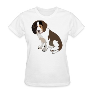 Beagle Puppy ADD CUSTOM TEXT - Women's T-Shirt