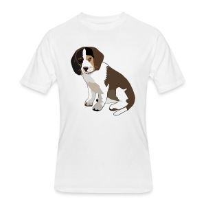 Beagle Puppy ADD CUSTOM TEXT - Men's 50/50 T-Shirt