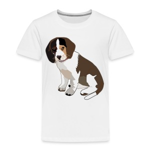 Beagle Puppy ADD CUSTOM TEXT - Toddler Premium T-Shirt