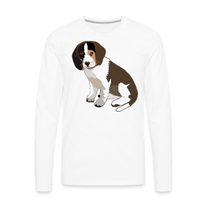 Beagle Puppy ADD CUSTOM TEXT - Men's Premium Long Sleeve T-Shirt