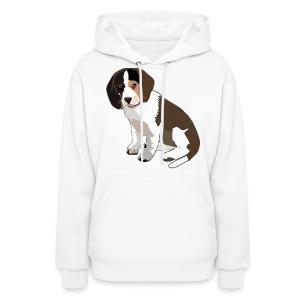 Beagle Puppy ADD CUSTOM TEXT - Women's Hoodie
