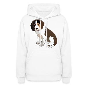 Beagle Puppy ADD CUSTOM TEXT - Women's Hoodie