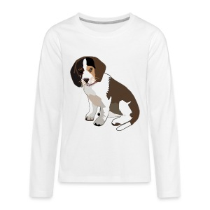 Beagle Puppy ADD CUSTOM TEXT - Kids' Premium Long Sleeve T-Shirt