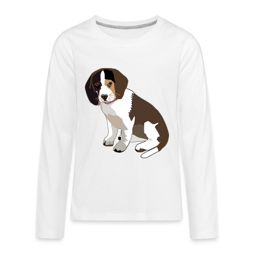 Beagle Puppy ADD CUSTOM TEXT - Kids' Premium Long Sleeve T-Shirt