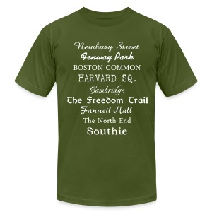 Boston Things - Men's T-Shirt by American Apparel