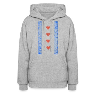 Chicago Hearts Flag - Women's Hoodie