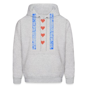 Chicago Hearts Flag - Men's Hoodie