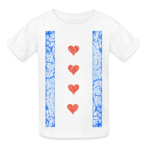 Chicago Hearts Flag - Kids' T-Shirt