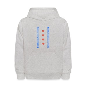 Chicago Hearts Flag - Kids' Hoodie