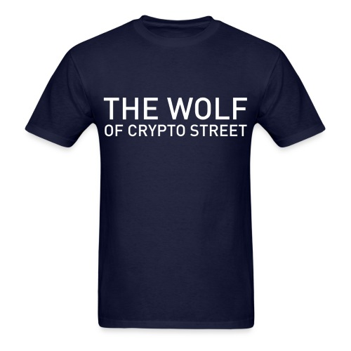 The Wolf Of Crypto Street - Men's T-Shirt