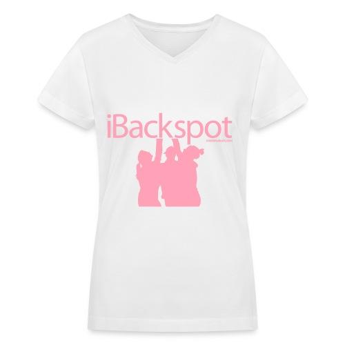 iBackspot - Women's V-Neck T-Shirt