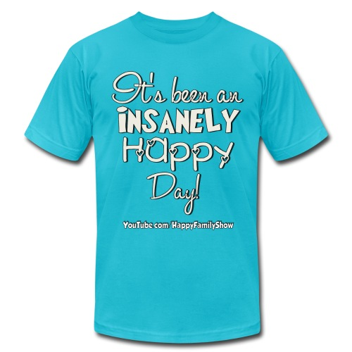 Insanely Happy Day Adult T-shirt - Men's T-Shirt by American Apparel