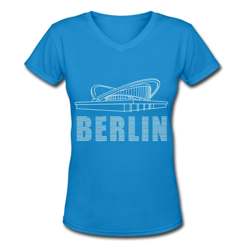 Pregnant oyster Berlin (silver) - Women's V-Neck T-Shirt