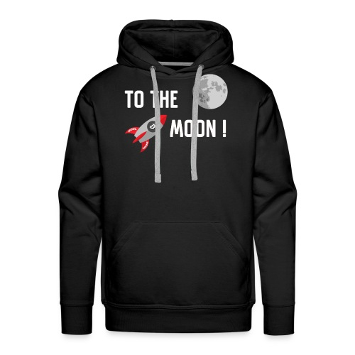 To the moon - Men's Premium Hoodie