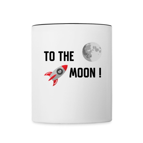 To the moon - Contrast Coffee Mug