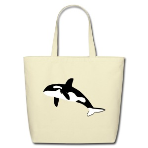 animal t-shirt orca orka killer whale dolphin blackfish - Eco-Friendly Cotton Tote