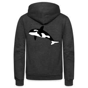 animal t-shirt orca orka killer whale dolphin blackfish - Unisex Fleece Zip Hoodie by American Apparel