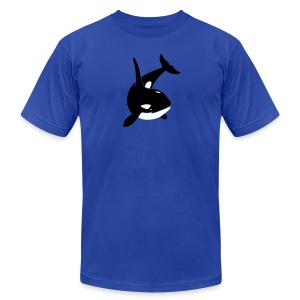 animal t-shirt orca orka killer whale dolphin blackfish - Men's T-Shirt by American Apparel