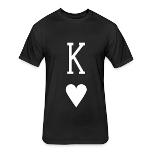 King of Hearts - Fitted Cotton/Poly T-Shirt by Next Level