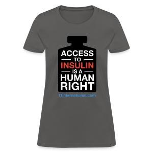 Women's Access to Insulin t-shirt - Women's T-Shirt