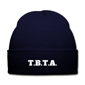 TBTA Knitted hat with logo blue - Knit Cap with Cuff Print