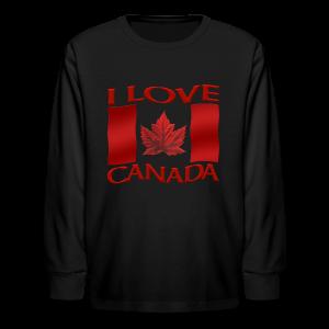 Kid's I Love Canada Shirts Girl's Canada Souvenirs Gifts - Kids' Long Sleeve T-Shirt