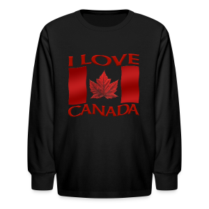 Kid's I Love Canada Shirts Girl's Canada Souvenirs Gifts - Kids' Long Sleeve T-Shirt