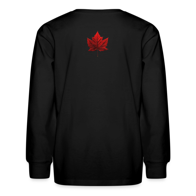 Kid's I Love Canada Shirts Girl's Canada Souvenirs Gifts