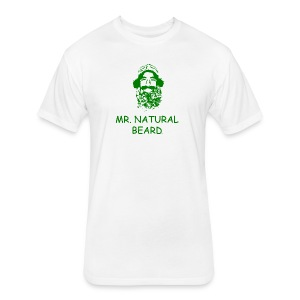 Mr. Natural Beard - Fitted Cotton/Poly T-Shirt by Next Level
