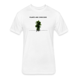 Plants Are Conscious - Fitted Cotton/Poly T-Shirt by Next Level