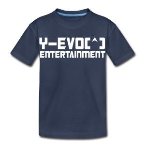 Y-EVO(^) Entertainment's Kids Shirt  NO LINE - KIDS - Toddler Premium T-Shirt
