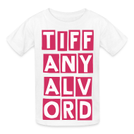 Kids' Shirts ~ Kids' T-Shirt ~ TIFF-ANY-ALV-ORD PINK