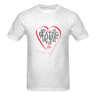 T-Shirts ~ Men's T-Shirt ~ Red Heart with Song Lyrics
