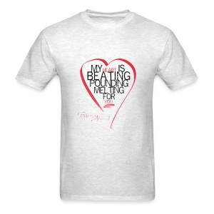 Red Heart with Song Lyrics - Men's T-Shirt