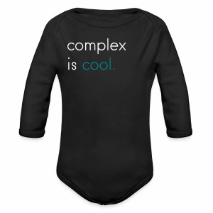 Original 'Complex is Cool' Long Sleeve   - Long Sleeve Baby Bodysuit