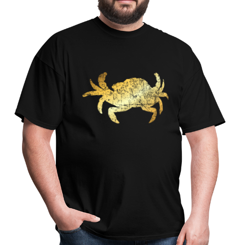 Crab T-Shirt for Seafood Lovers (Vintage Gold) - Men's T-Shirt