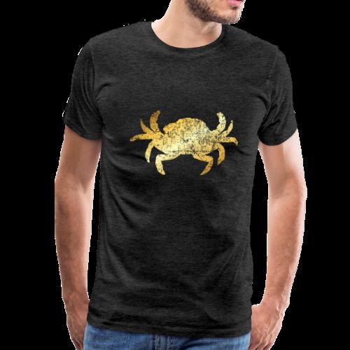 Crab T-Shirt for Seafood Lovers (Vintage Gold) - Men's Premium T-Shirt
