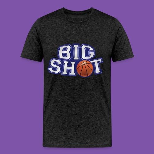 Big Shot Basketball Graphic Tee - Men's Premium T-Shirt