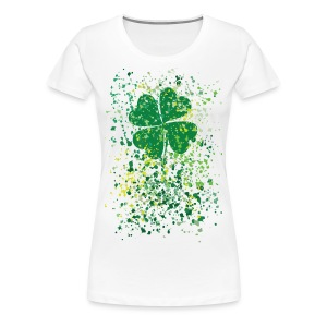 watercolor Clover st.Patrick's day - Women's Premium T-Shirt