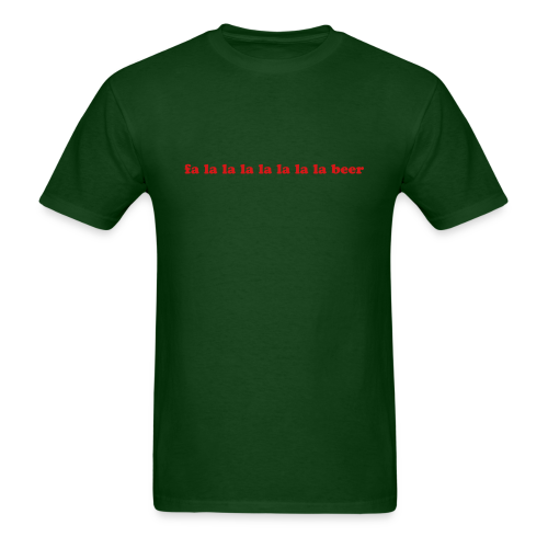 Funny Beer Christmas Song - Men's T-Shirt