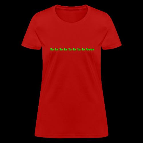 Beer Funny Christmas - Women's T-Shirt