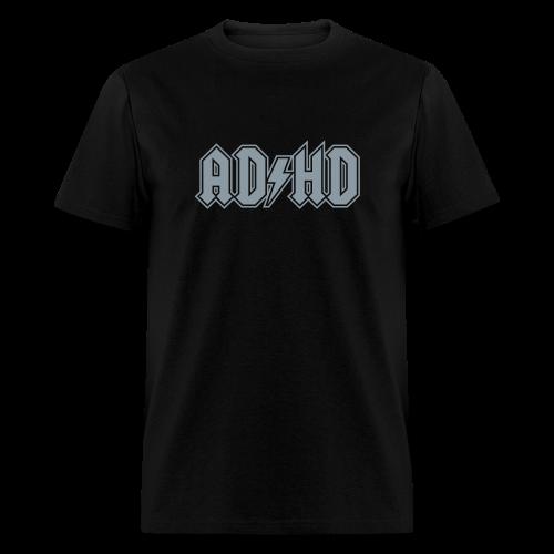 ADHD AC/DC Rock Band Logo - Men's T-Shirt
