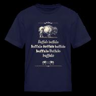 Kids' Shirts ~ Kids' T-Shirt ~ Kids: Buffalo Buffalo T-shirt (navy)