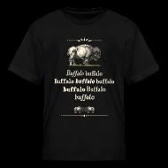 Kids' Shirts ~ Kids' T-Shirt ~ Kids: Buffalo Buffalo T-shirt (black)