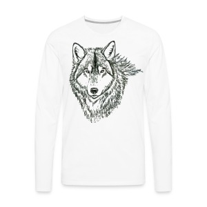 WOLF LONG SLEEVE TSHIRT - Men's Premium Long Sleeve T-Shirt